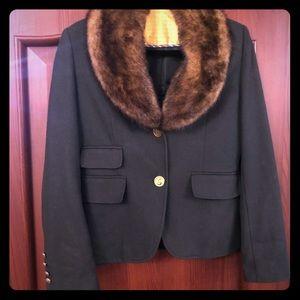 Forest green wool blazer